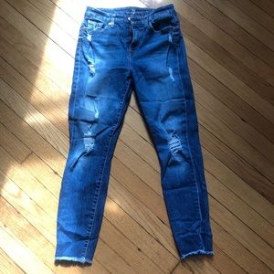 7 Jeans Distressed and High Waisted Ankle Jeans!